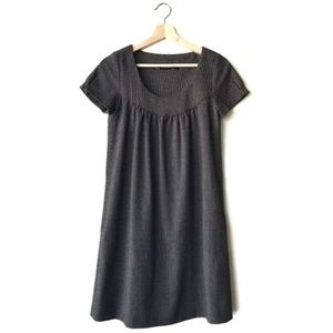 Zara Babydoll Tweed Dot SS Swing Dress